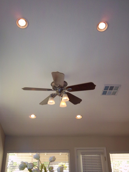 Ceiling fans recessed lights electrical trouble shooting gfci and recessed lighting tired of those old florescent lights in your kitchen or bathroom we can upgrade those lights to the more attractive recessed lighting mozeypictures Gallery